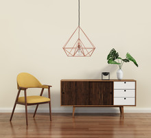 Scandinavian Design Interior With Himmeli Diamond Lamp