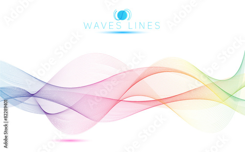 Photo  great rainbow waves colorful gradient light blend line bright