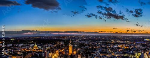 Leipzig am Abend Panorama HDR