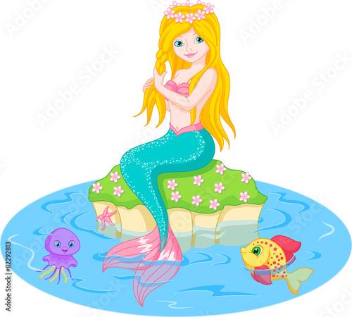 Wall Murals Mermaid Mermaid