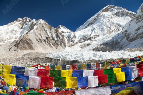 Wall Murals Nepal view from Mount Everest base camp