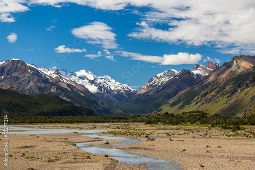 Foto op Canvas Zuid Afrika Beautiful mountain landscape of Patagonia. Argentina