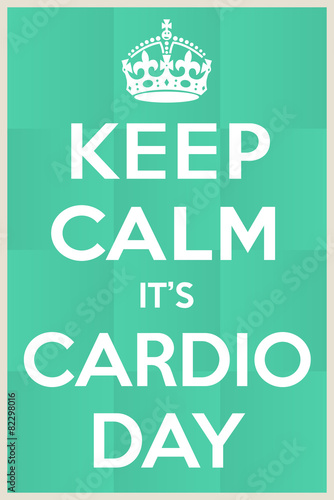 Cardio day Wallpaper Mural