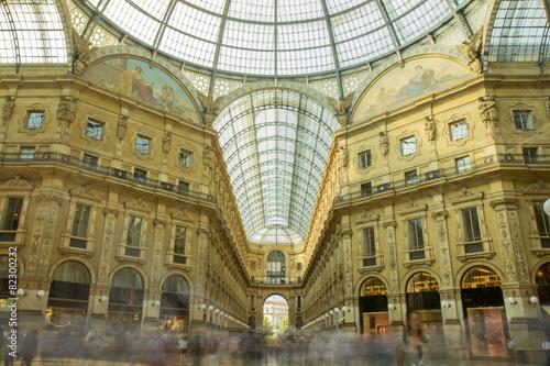 Fotografiet  Galleria Vittorio Emanuele, Milan Italy