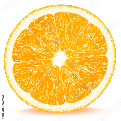 Foto op Aluminium Vruchten orange slices isolated on white