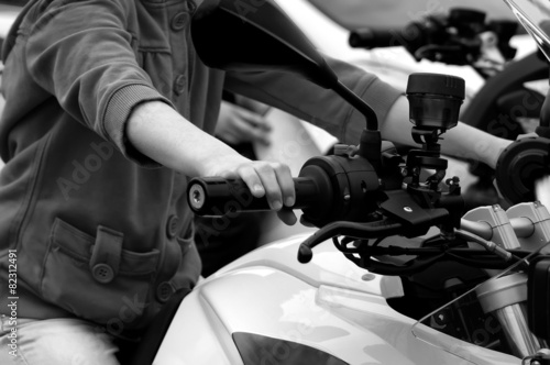 Foto op Plexiglas Fitness Driving Motorcycle