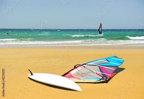 Fotografía  De windsurf en Tarifa, Cádiz, España