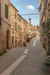 Solar ancient town and the streets of the beautiful Tuscany, Ita