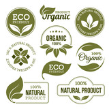Green Organic Products Labels