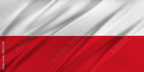 Fotografie, Obraz  Flag of Poland