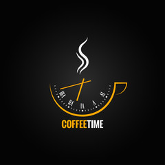 Fototapeta Kawa coffee cup clock time concept background