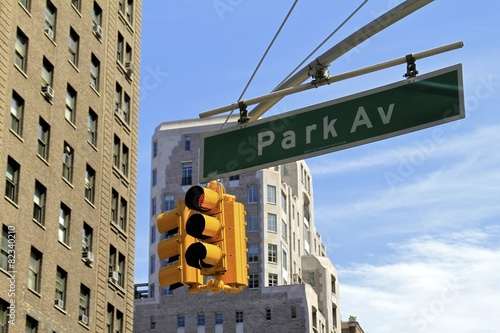 Sign of Park Avenue in NYC