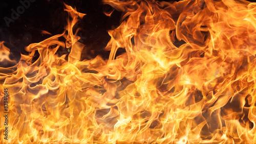 fototapeta na lodówkę Płomienie ognia w tle