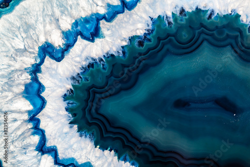 Printed kitchen splashbacks Crystals Blue Brazilian geode