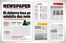 Graphical Design Newspaper Tem...