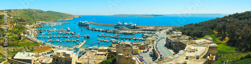 Fotografía MGARR, MALTA - APRIL 14, 2015: Panorama view on Mgarr port with