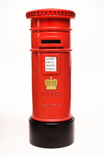London Postbox Isolated On Whi...