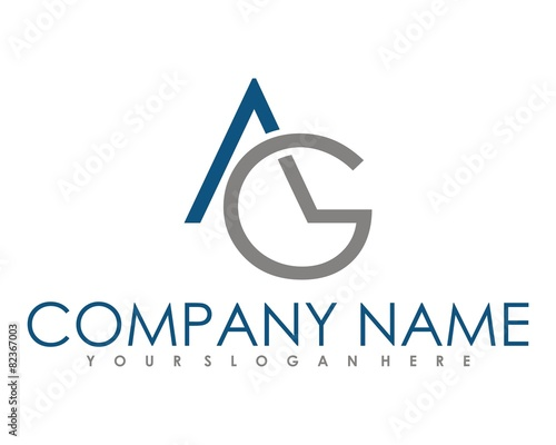 AG logo image vector Canvas Print