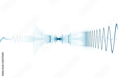 Foto op Plexiglas Abstract wave Bright digital sound wave background