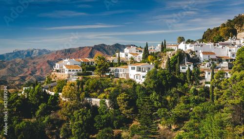 Photo Stands Kiev Charming little white village of Mijas. Spain