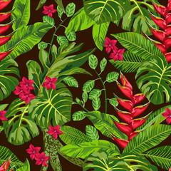 Panel Szklany Do jadalni Seamless exotic pattern.