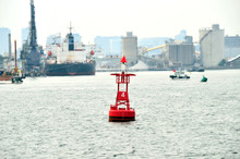 Red Channel Marker Buoy In The...