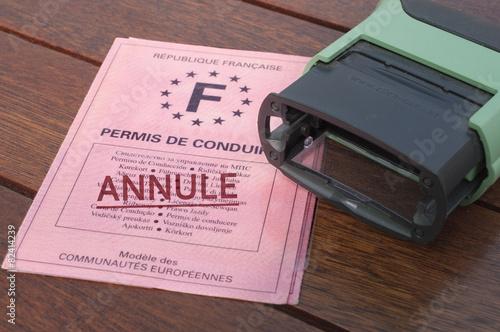 Photo permis de conduire annulé