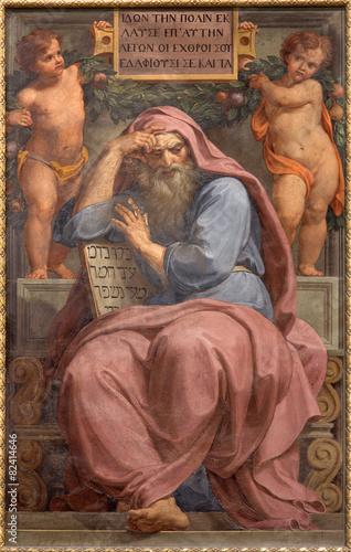 Rome - prophet Jeremiah fresco in Basilica di Sant Agostino Slika na platnu