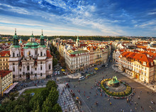 St. Nicholas Church, Old Town Square In Prague, Czech Republic.