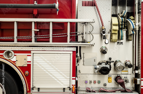Firetruck equipment Fototapeta