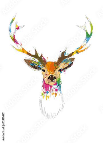 Obraz premium jelenie głowy
