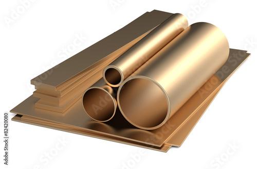 Fotografie, Obraz  rolled metal, bronze