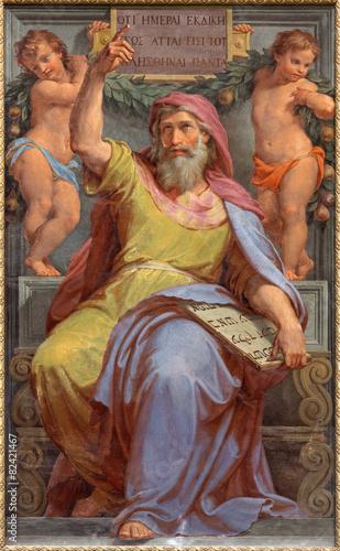 Fotografía Rome - prophet Ezekiel fresco in Basilica di Sant Agostino