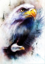 Painting Of Two Eagles On An A...
