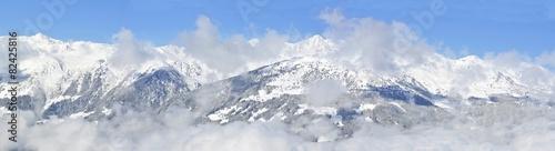 Foto auf Gartenposter Gebirge Winter panorama