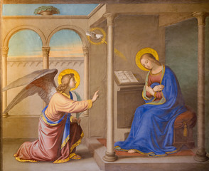 Fototapeta Rome - Annunciation fresco Chiesa della Trinita dei Monti.