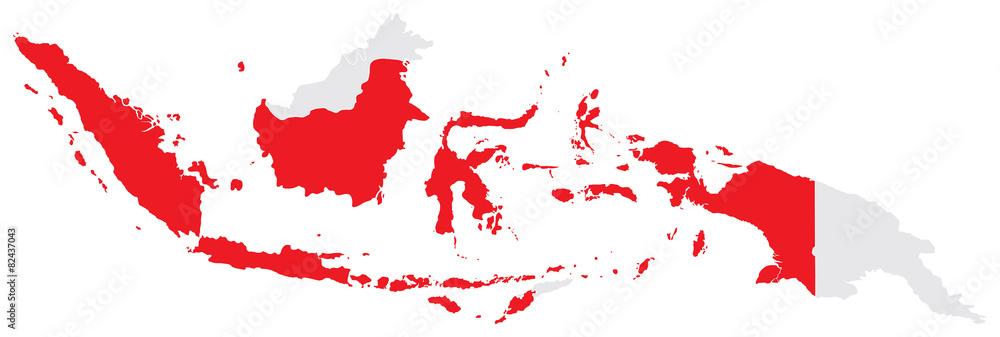Fototapeta Map of Indonesia