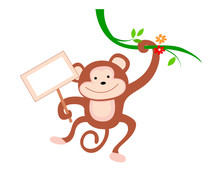 Monkey With Notice Board