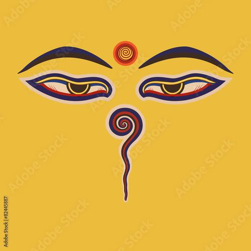 Buddha eyes  of the Nepal Slika na platnu