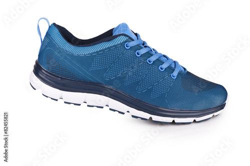 Blue sneaker with shadow Tablou Canvas