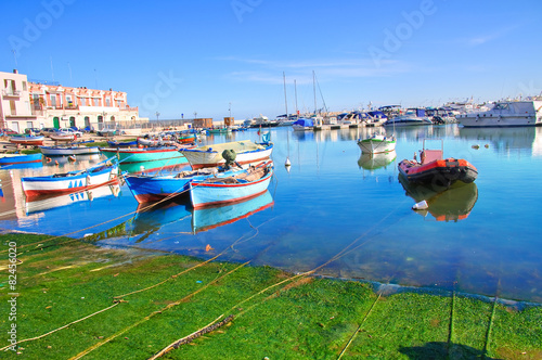 Panoramic view of Bisceglie. Puglia. Italy. Wallpaper Mural