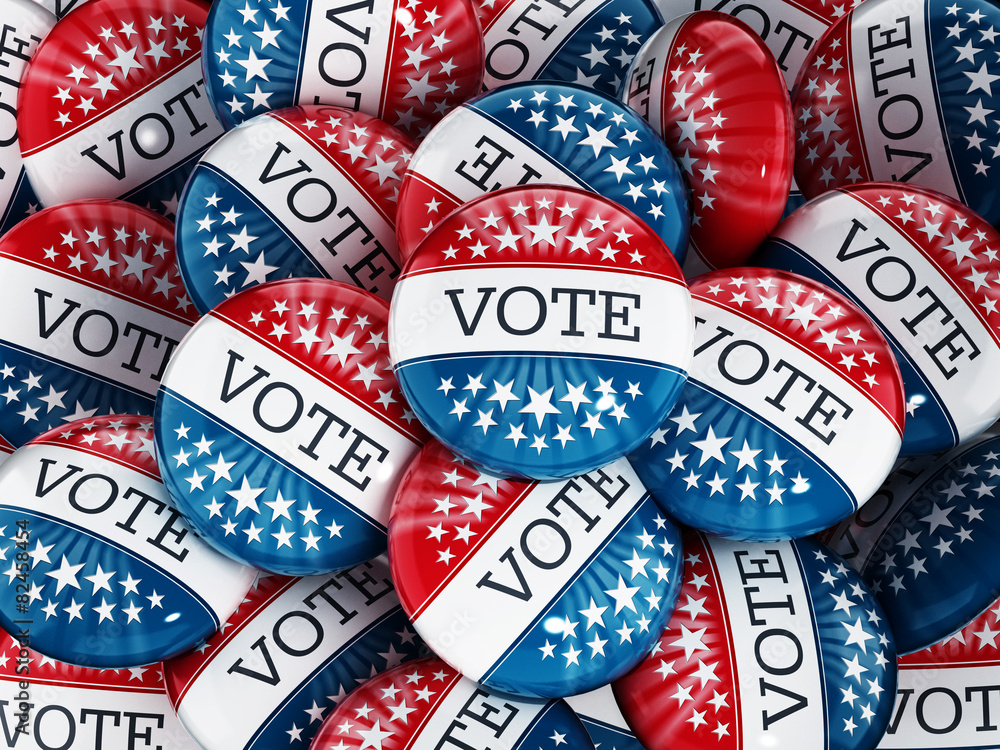 Fototapety, obrazy: Vote buttons