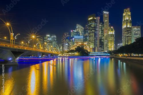 Photo  Singapore illuminated