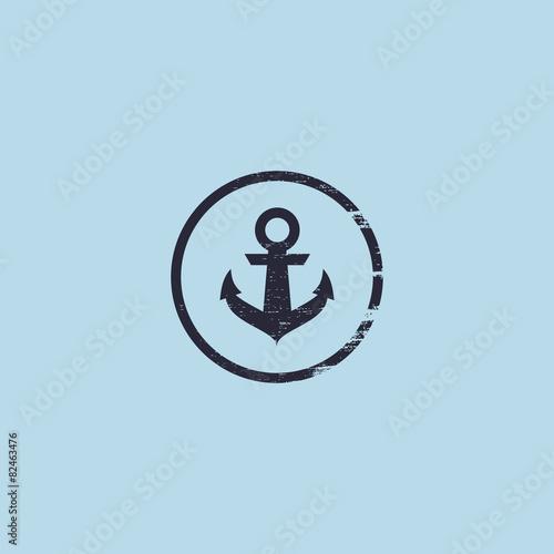 Anchor logo. Nautical theme. Wallpaper Mural