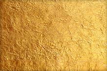 Shiny Yellow Leaf Gold Foil Te...