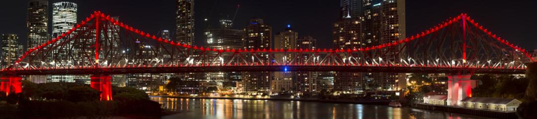 Panel Szklany Do kuchni The iconic Story Bridge in Brisbane, Queensland, Australia
