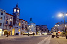Town Center Of Rimini, Italy, At Night