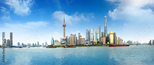Foto op Aluminium Shanghai shanghai skyline