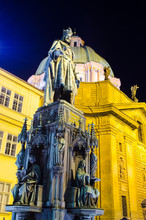 Statue Of Charles IV In Prague.