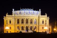 Illuminated Building Of Rudolf...